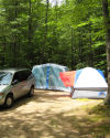 Our campsite, Lake Ivanhoe CG, New Hampshire - July 2007